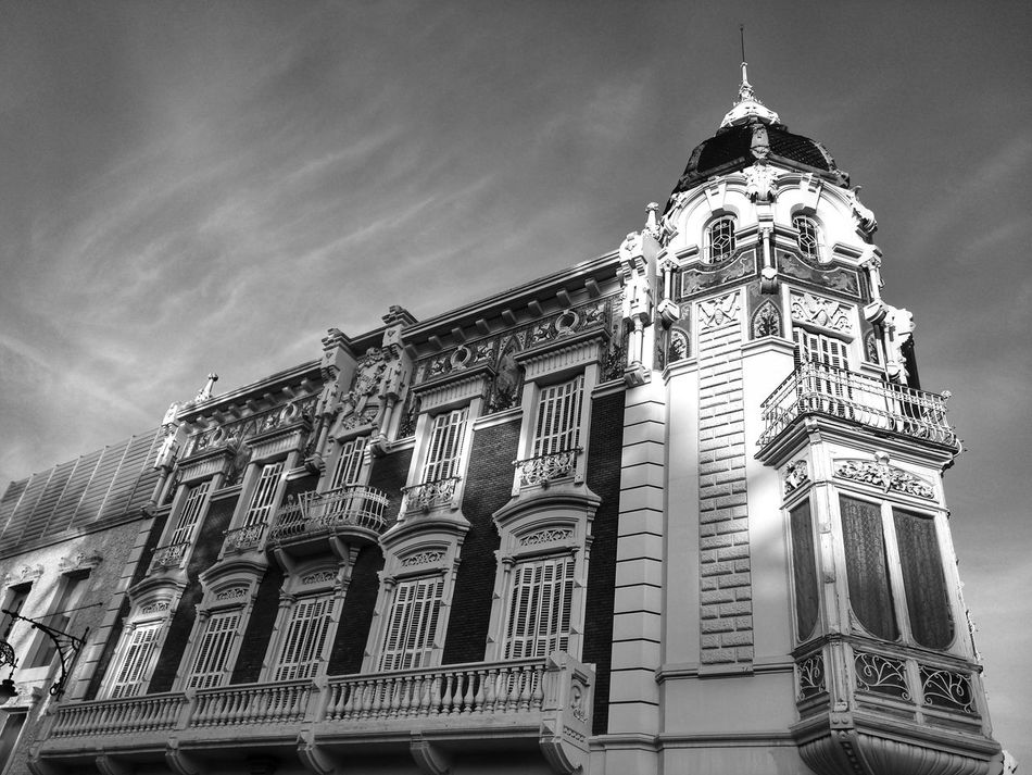 Art Nouveau Architecture Art Nouveau BuildingsArchitecture_collection Architecturephotography Cartagena SPAIN Black And White Photography Bw Photography Black & White Bw_collection Bw_ Collection Bw Art Nouveau Art Nouveau Style Architecture Monochrome Blackandwhitephotography BW_photography Mobile Photography