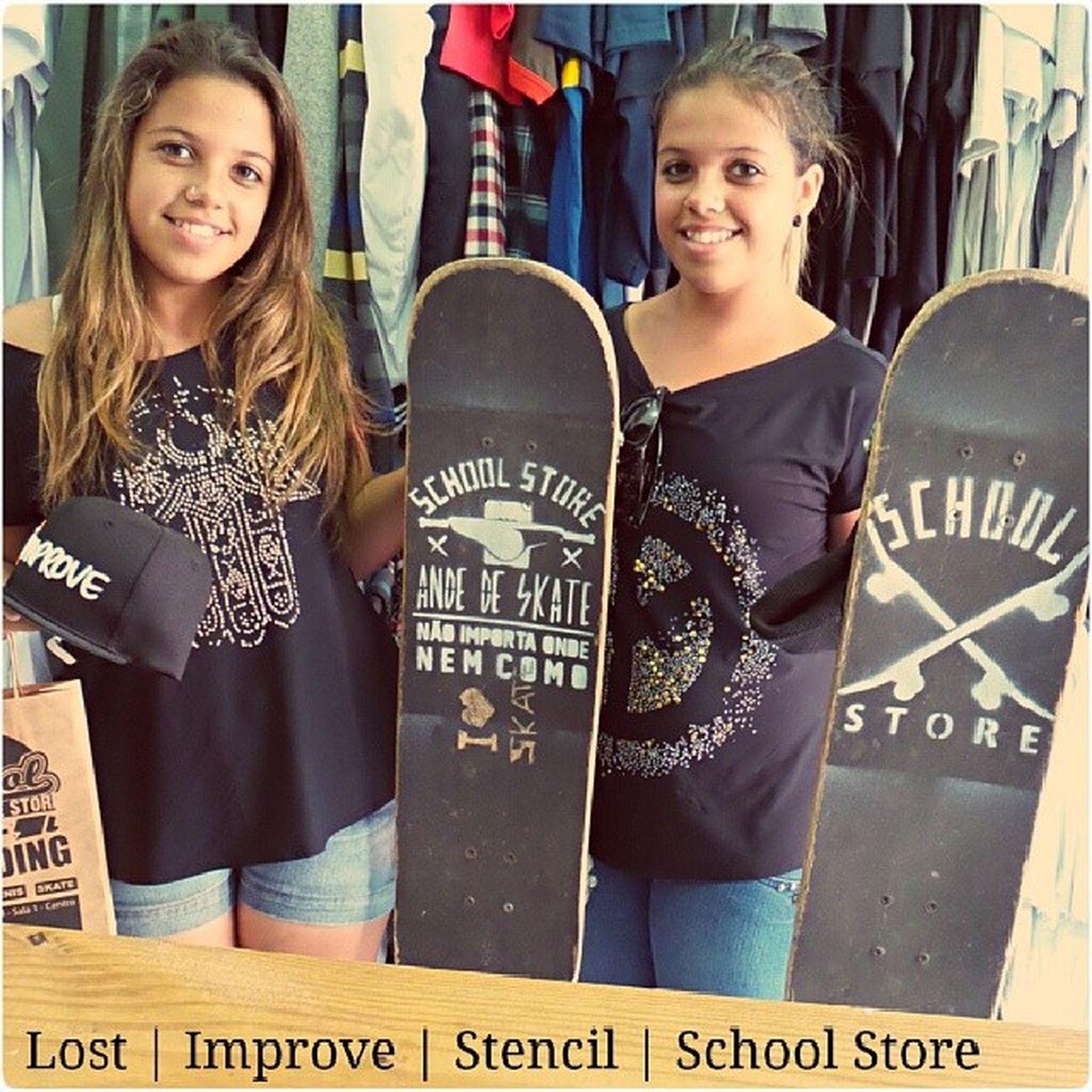 Valeu meninas por passarem na @schoolstore Stencil Meia Lost Bone  improve skate skateboard skateallday schoolstore school store core lifestyle urbanwear skateshop boardshop siga followme follow me