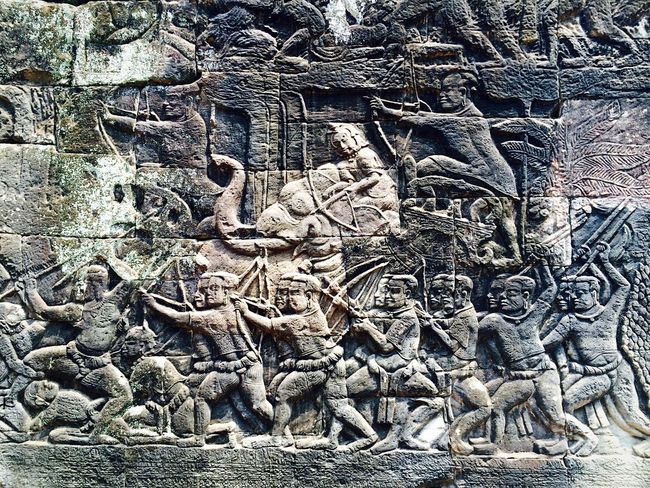 The Past of Angkor Thom Angkor Thom Bayon Temple Famous Place Carved Temple - Building Outdoors Culture Tourism History Ancient Stone Fresh On Eyeem  Ancient Temple Ancient Civilization Ancient Cambodia Siemreap Travel Destinations EyeEm Best Shots EyeEm Gallery EyeEmBestPics