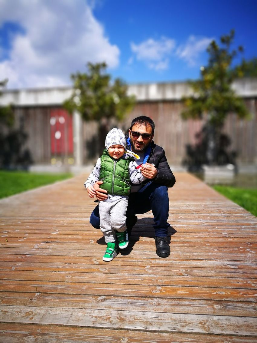 Yegencandır😊☺️💕 Family With One Child Full Length Childhood Togetherness Adult Day Mid Adult Toddler  People Love Bonding Outdoors Happiness Casual Clothing Males  Sky Child Warm Clothing Young Adult Smiling