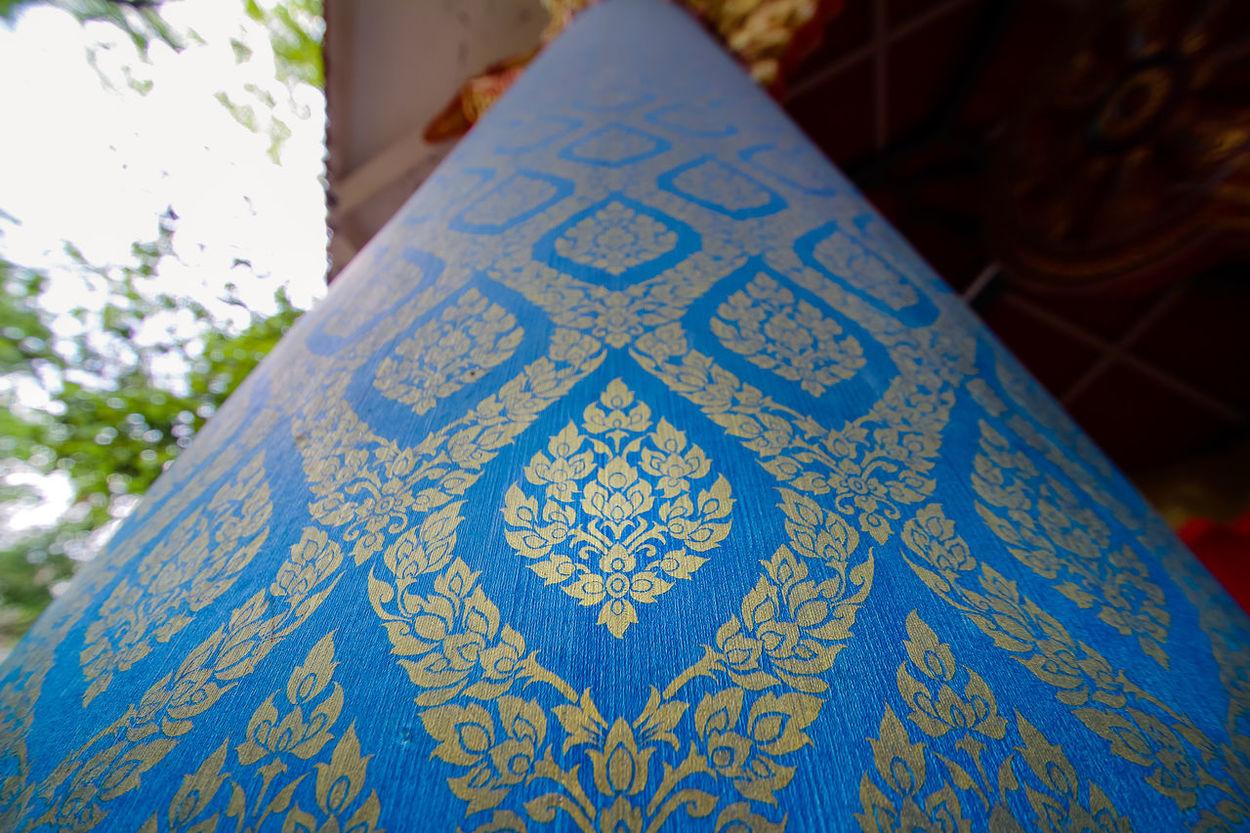 Thai painting in temple ArtWork Blue Design Detail Fabric Focus On Foreground Laithai Selective Focus Textile Textured  Thai Painting Thai Temple