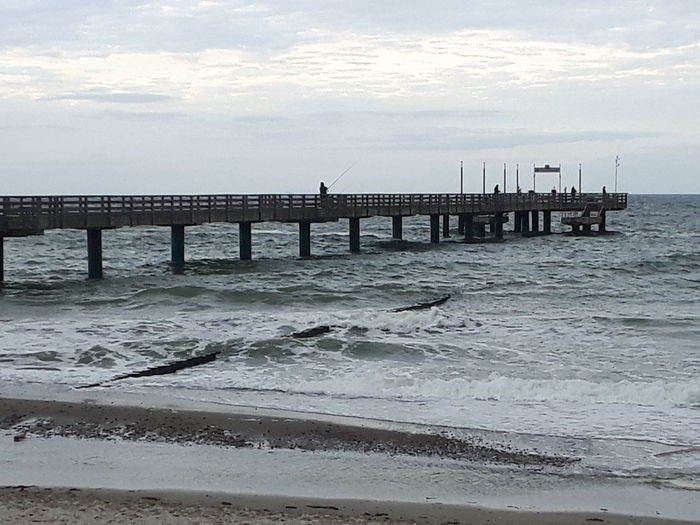 Architecture Beach Beauty In Nature Bridge - Man Made Structure Built Structure Cloud - Sky Day Horizon Over Water Nature No People Outdoors Scenics Sea Sky Tranquil Scene Tranquility Water Wave