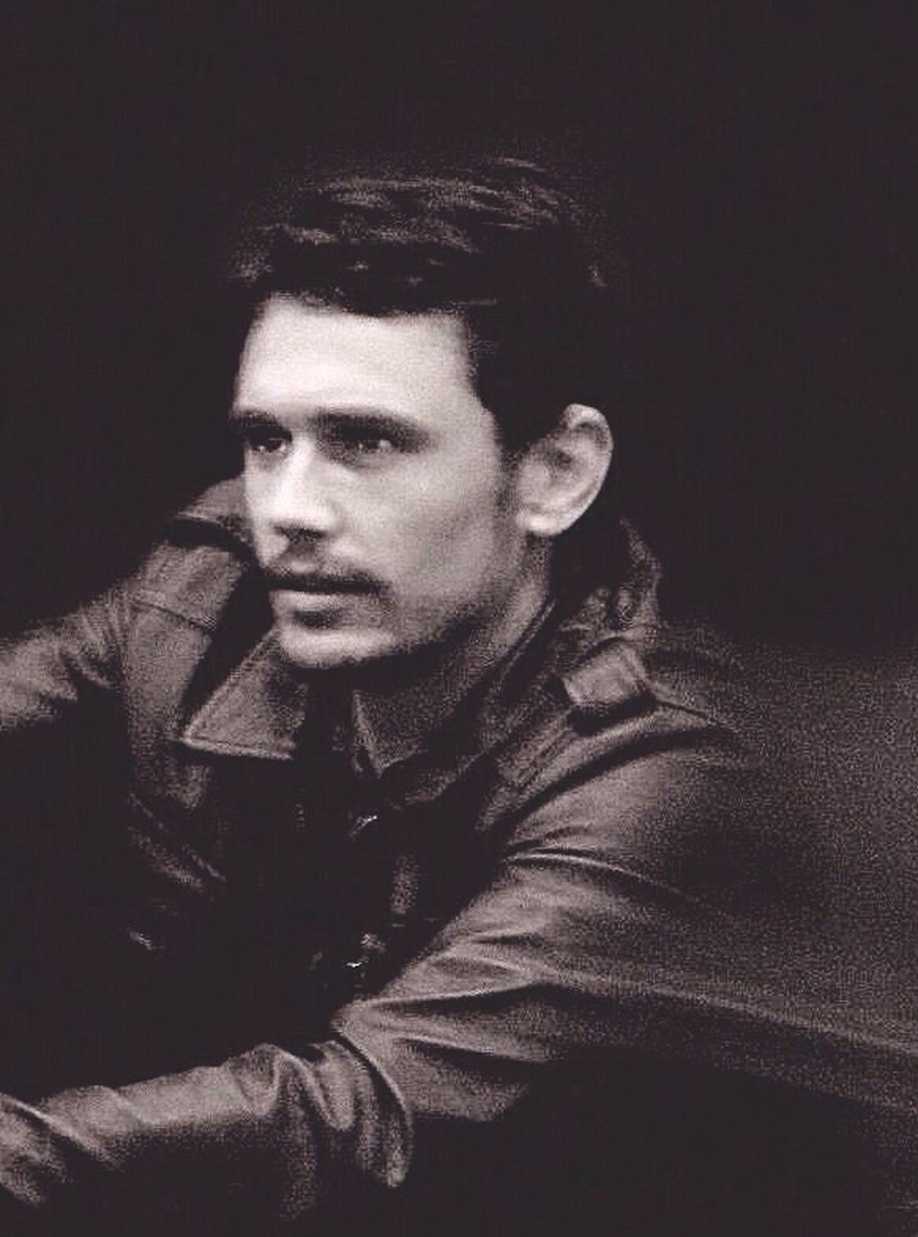 James Franco/NYC Celebrity Portraiture Blackandwhite Actor And Director Writer Painter Movement Leather Jacket Artist Canon Grainyiscool The Portraitist - 2016 EyeEm Awards