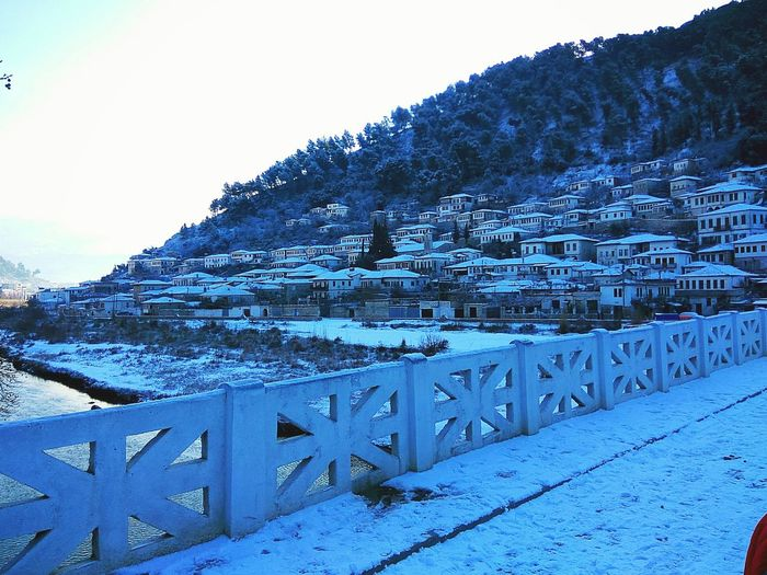 Gorica , Berat Unesco World Heritage UNESCO World Heritage Site Architecture Snow Covered White Houses Berat, Albania Bridge View Snow ❄ Houses On Hill Traveling Destinations City Hills Smartphonephotography 2017 Travel Destination Visit Albania Bridge Of Gorica Houses And Windows Holiday Destination Unesco Beauty In Nature Riverside Osumi River Albania Trees And Snow Nature Adapted To The City The City Light Minimalist Architecture