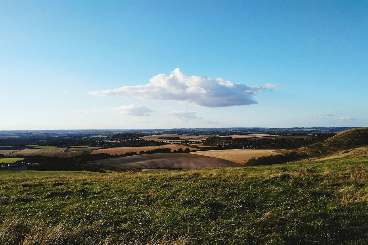 Landscape Outdoors Scenics Blue Nature Dunstable Downs Lonely Cloud Miles Away