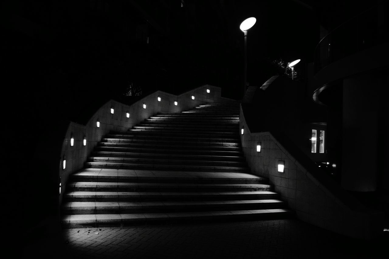 Follow The Shadow Low Lights Shadows & Lights No People Steps Black And White Photography Darkness And Light