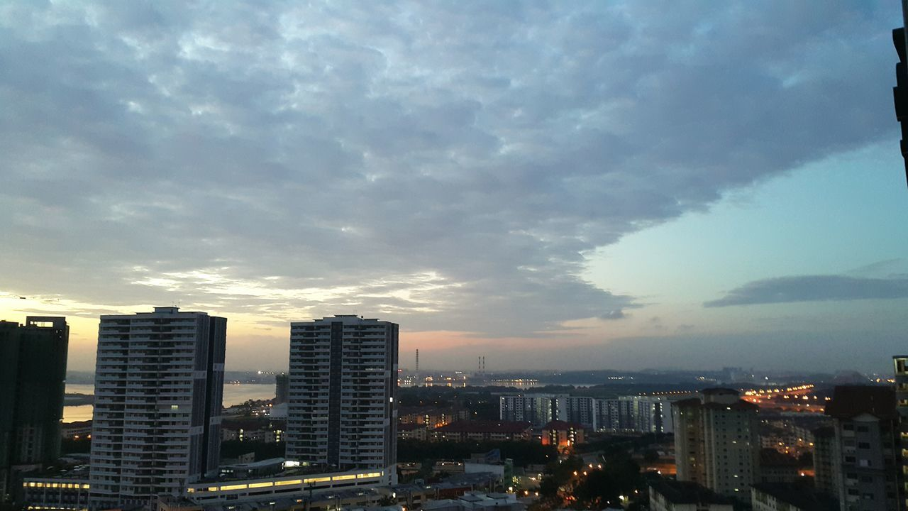 Cityscape City Architecture Urban Skyline Skyscraper High Angle View Building Exterior Business Finance And Industry Illuminated Cloud - Sky Travel Destinations City Life Sky Downtown District No People Dramatic Sky Modern Outdoors Night Johor Bahru Malaysia