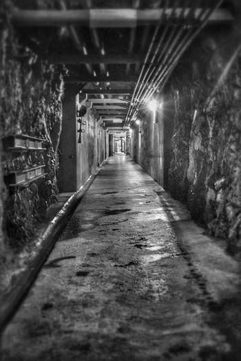 HDR Light And Shadow Rock Vanishing Point Blackandwhite Photography Black And White Canonphotography Tunnel Fortress Fortress Wall Cold Inside Impressive History Switzerland Past Past Time Museum