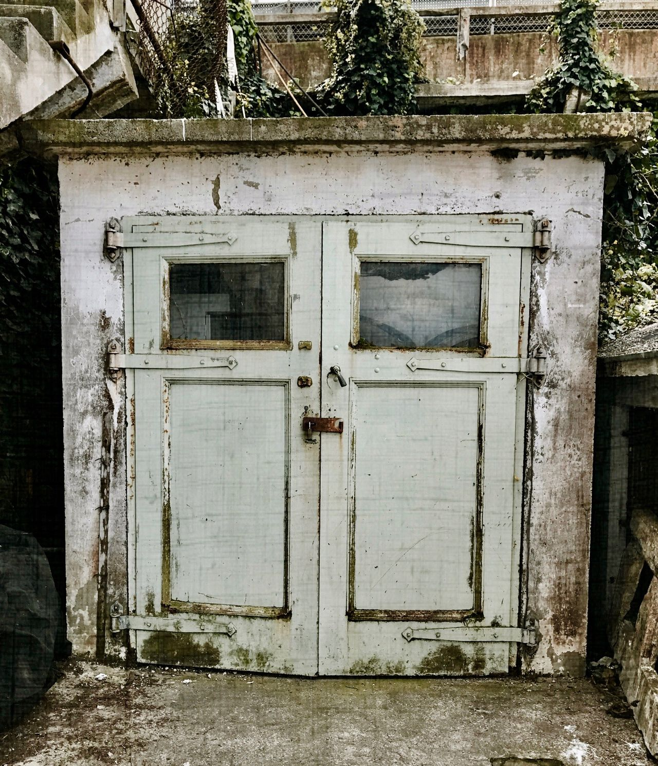 Alcatraz Morgue Doors Alcatraz Morgue Doors Architecture Building Exterior Built Structure Door Garden EyeEmNewHere EyeEmNewHere The Secret Spaces Art Is Everywhere