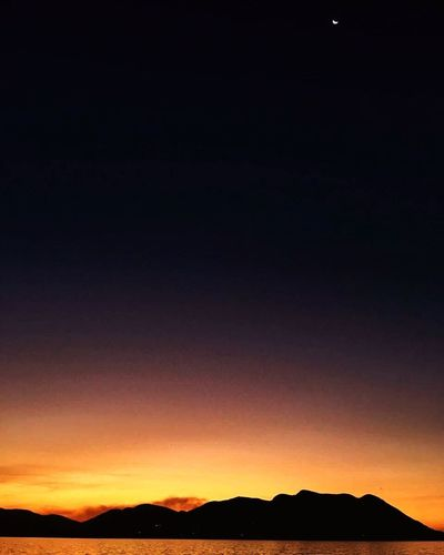 Magalies Mountain Silhouette Scenics Tranquility Tranquil Scene Beauty In Nature Nature Mountain Outdoors Sunset No People Landscape Sky Moon Day Magaliesburg South Africa Northwest Africa EyeEmNewHere