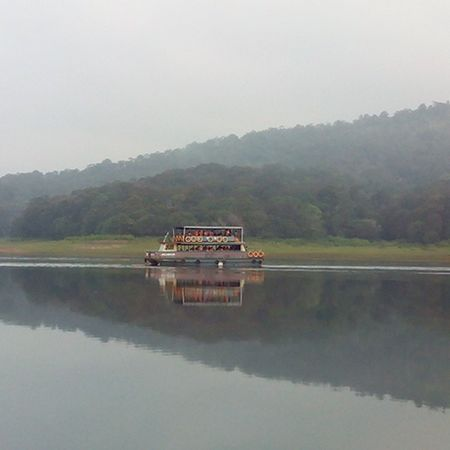 Even a small ripple can cause distortion in both real and reel life!! Reflectioninwater Water Calm Placid  Oldpic Nofilter Beautiful Atmosphere Kerala Tug Awesome Instaclick Nostalgic  Memories Micromax Photography
