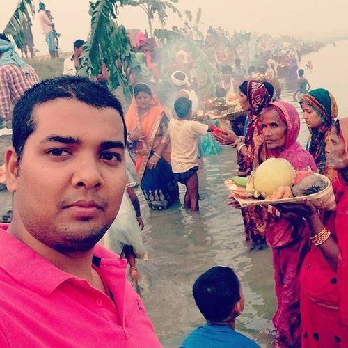 Chhathpuja Bihar Festival Family