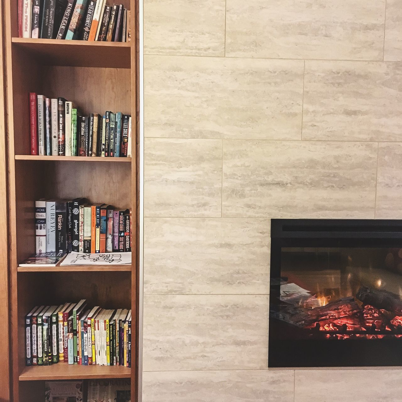 book, shelf, bookshelf, indoors, no people, home interior, library, day