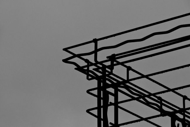 Balcony Black And White Black And White Photography City Clear Sky Day Low Angle View Metal Monochrome Monochrome Photography No People Outdoors Shapes Shapes , Lines , Forms & Composition Shapes And Forms Shapes And Lines Sky Steel Construction Steel Structure  Urban Urban Photography in Katowice, Poland