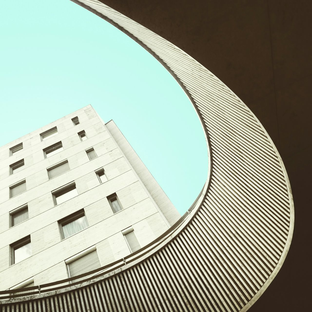 • D • The Architect - 2015 EyeEm Awards Architecture Urban Geometry Minimalism AMPt Community Building Curves Lookingup EyeEm Best Shots Architecturelovers