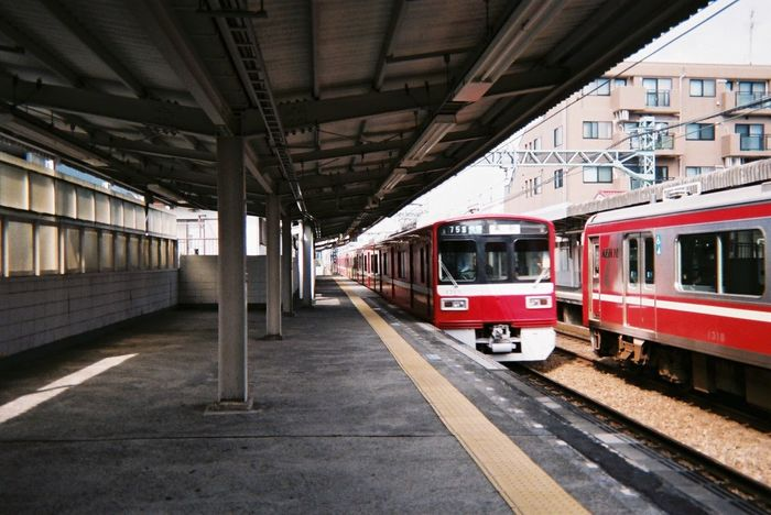 Japan Train Station Train Station Red Film Film Photography 日本 地元 駅 電車 赤い電車 フィルム 写ルンです City Life EyeEm Gallery Eyemphotos EyeEmJapan