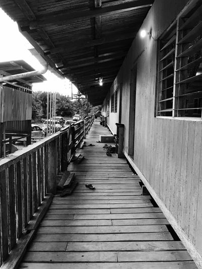 Wooden pathway for an Iban longhouse. Built Structure The Way Forward Architecture Wood - Material Wood Paneling Outdoors Day No People