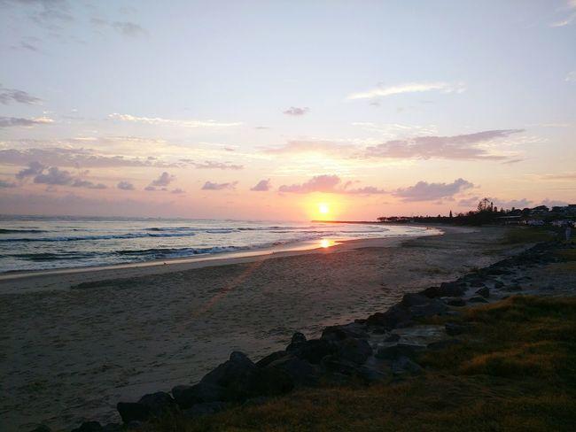 Sunrise Beach Clouds Camping