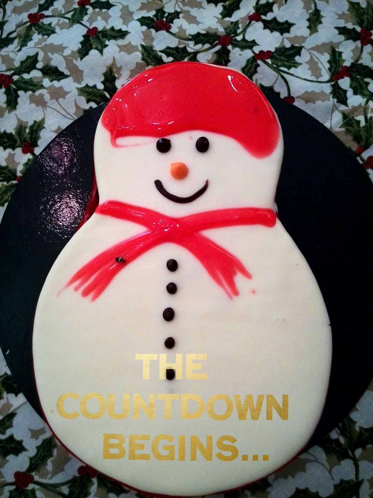 Holiday Desserts Eat Eat And Eat Chrstmas:)) Snowman⛄ Cake♥