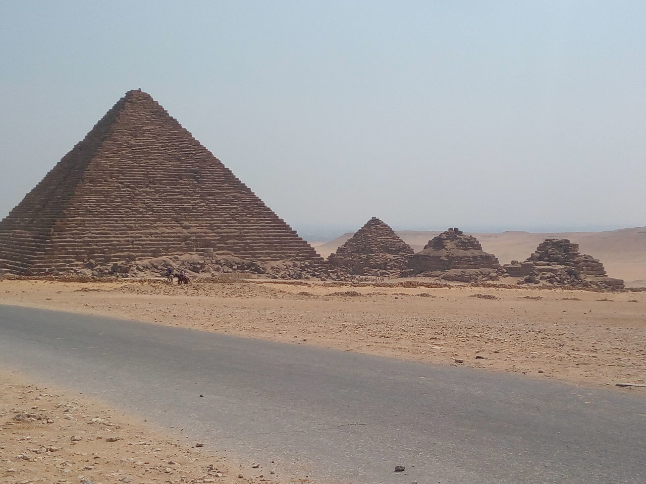 Khafra Pyramid in Giza - Egypt Ancient Desert Khafra Pyramid Pyramid Sunny Day Travel First Eyeem Photo