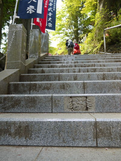 Architecture Day Flag Japan Low Angle View Mammal Men Mitakesan Nature One Person Oume City Outdoors People Real People Religion Staircase Steps Steps And Staircases Tengu Tokyo Women 天狗 御岳山 東京 青梅