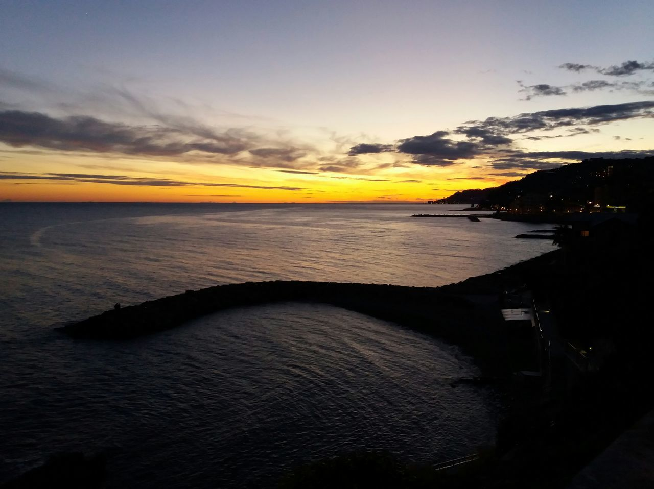 Sunset Sea Dramatic Sky Horizon Over Water No People Social Issues Nature Beauty In Nature Beach Outdoors Scenics Sky Water Landscape Panorama Panoramic Photography Picture Pic Picoftheday Photo