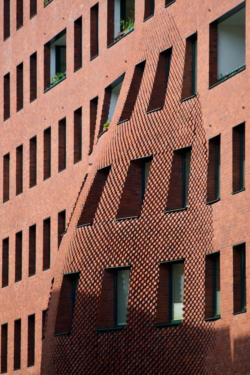Building, Hamburg, Hafencity Architectural Detail Architecture Architecturelovers Brick Built Structure Bulging Outside Windows