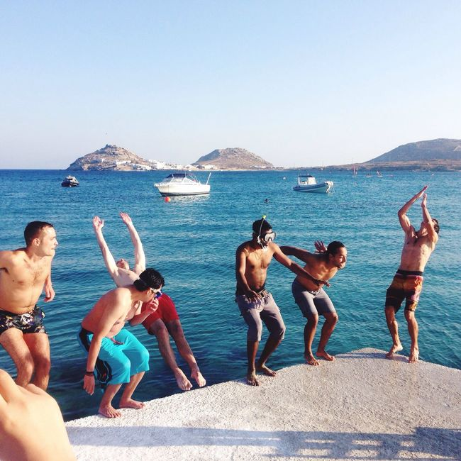 People Of The Oceans enjoying a Sunny Day in Mykonos