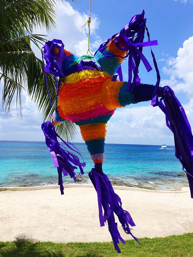 Happy birthday! Party Celebration Piñata Ocean View Carribean First Eyeem Photo Mexico Mexican Traditions