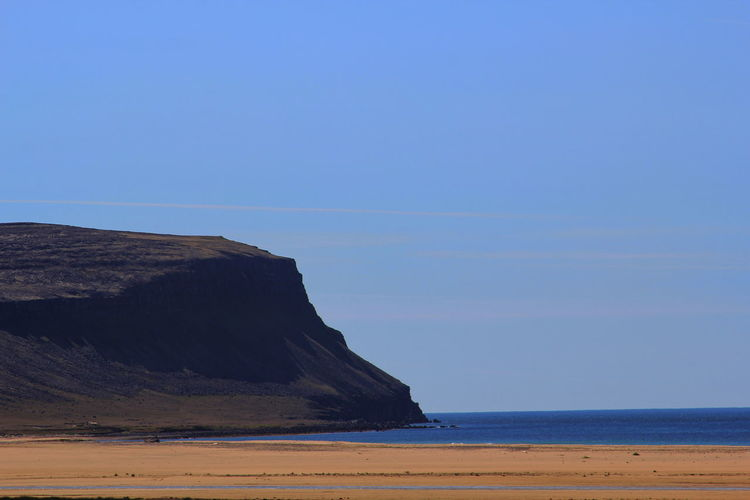 Betterlandscapes Sea Beach Water Nature Sky Blue Day Outdoors Tranquility Sand Iceland Clear Sky Scenics Beauty In Nature No People Iceland Memories Iceland_collection Westfjords Iceland Trip Tranquil Scene Horizon Over Water