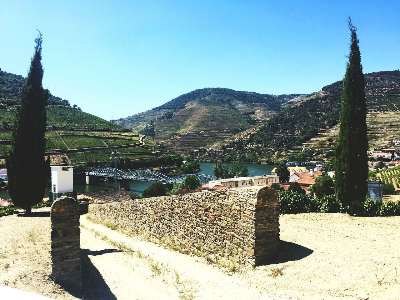 EyeEmNewHere Clear Sky Mountain Outdoors Sunlight Sky Day Nature Portugal Is Beautiful Portugal FirstEyeEmPic Douro  Douro River Portugal Dourovalley EyeEmNewHere