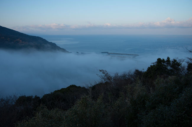 Bridge Fog Hijikawa Storm Japan Landscape Mountain Natral Phenomena River Sea Winter Hiji River