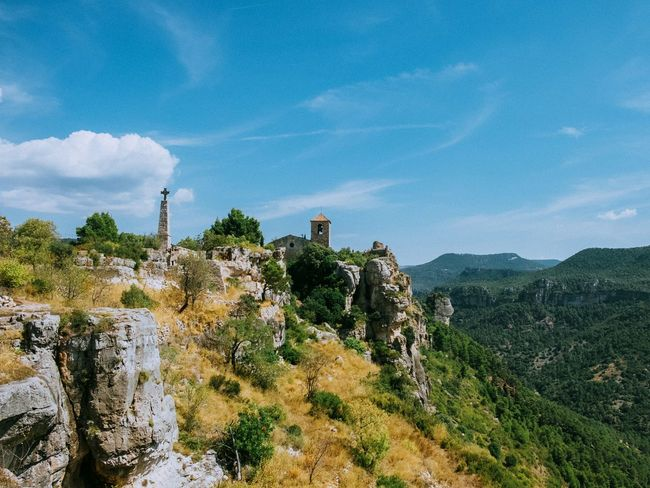 Smallest and most beautiful village in Catalonia Tranquil Scene Scenics Tranquility Mountain Landscape Sky Non-urban Scene Remote Beauty In Nature Solitude Plant Nature Idyllic Mountain Range Valley Physical Geography Geology Blue Green Countryside