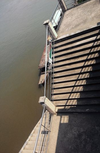 Stairs & Shadows Stairs Platform Platform Stairs To Khong River Light And Shadow Shadows & Lights Khong River Boat