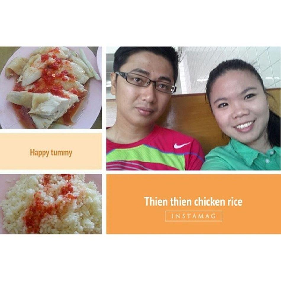 Finally sampai jua hajat. Lunch at Thienthienchickenrice Yummy best Chickenrice in town with baby @harmoneylate