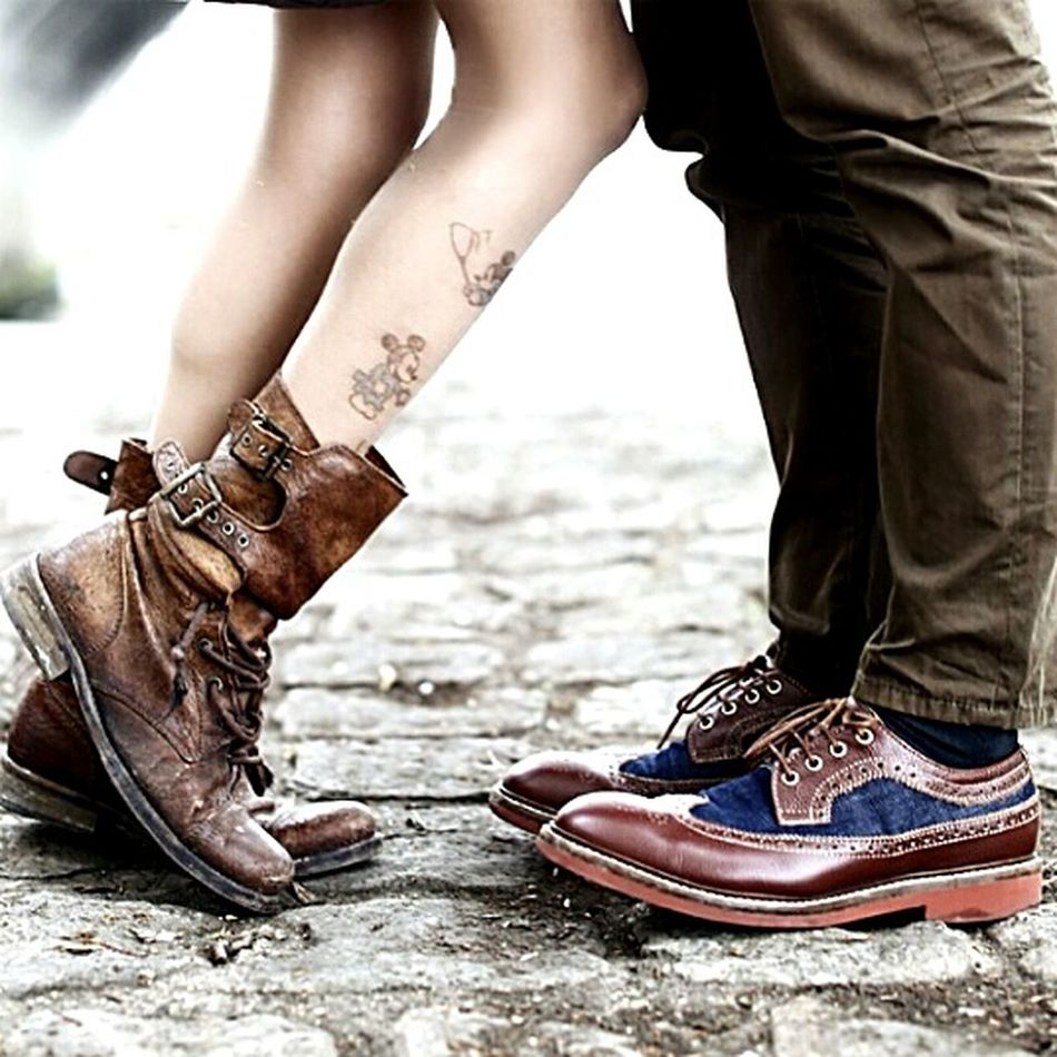 When the boy meets the girl Vintage Shoes Couple Weonlywearagoodshoe Shoeselfportrait Lovers