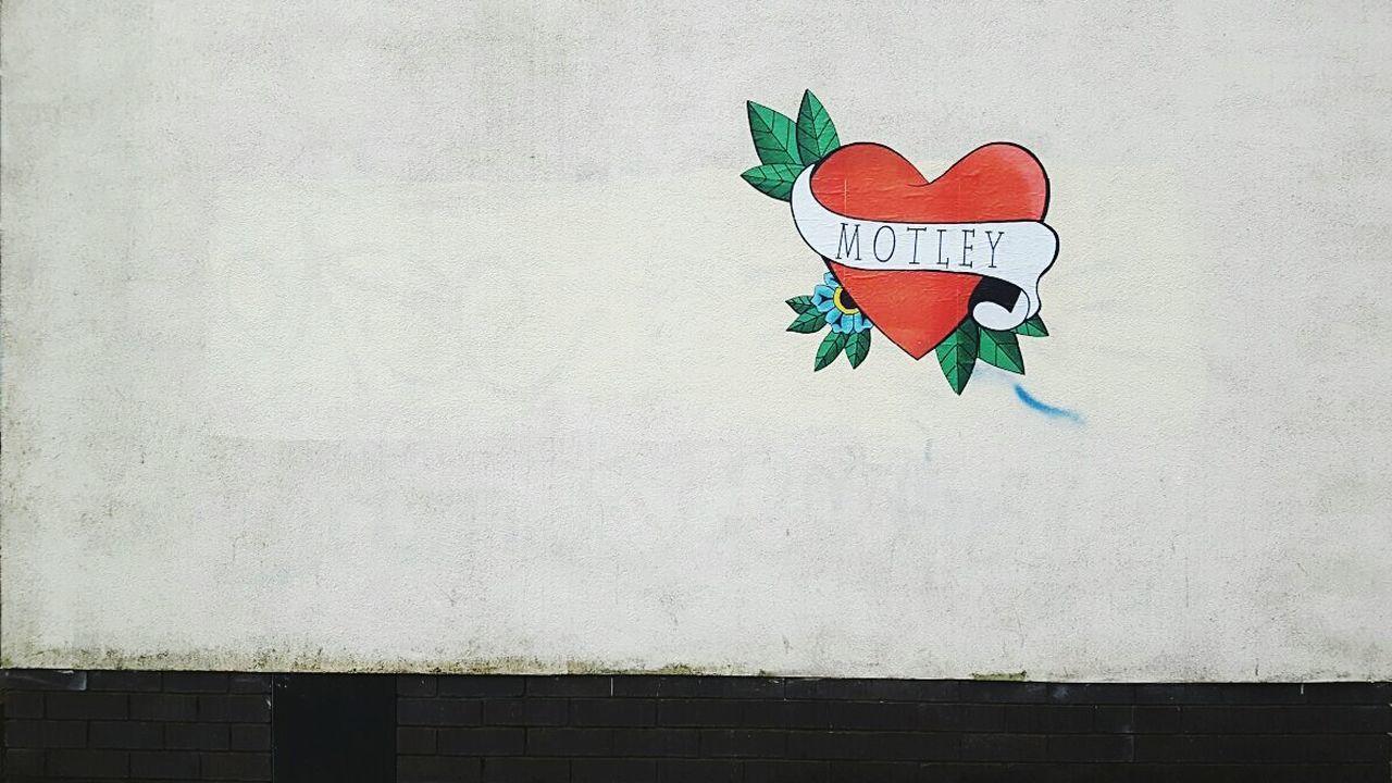 Artphotography Street Art/Graffiti Streetphotography Building Exterior Outdoors Day City Manchester No People Red Heart Heart Shape Art Wall Painting/grafitti Wall Graffity Mötley Crüe