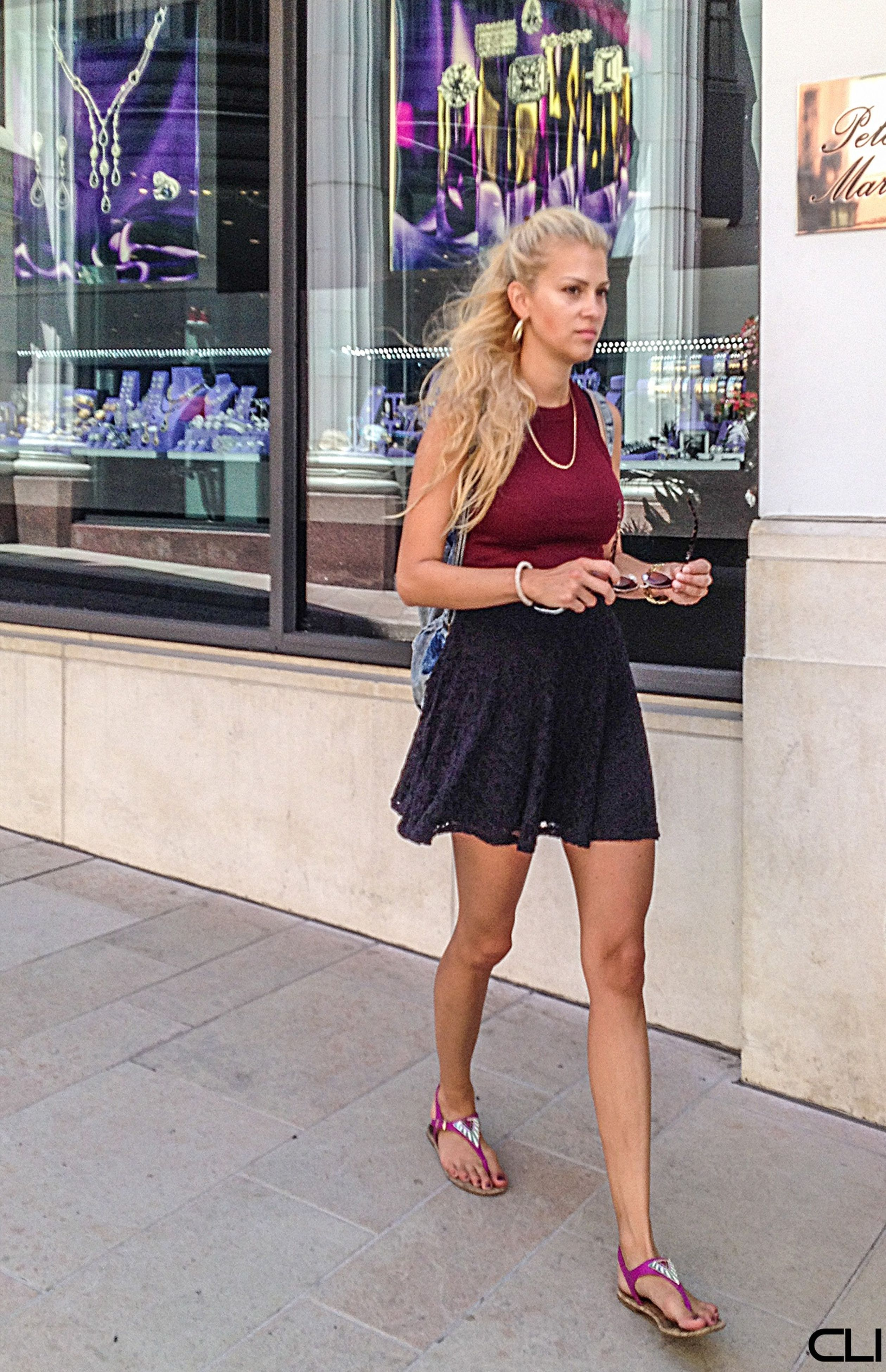 full length, young adult, lifestyles, casual clothing, young women, person, front view, standing, leisure activity, building exterior, built structure, architecture, fashion, portrait, street, long hair, dress