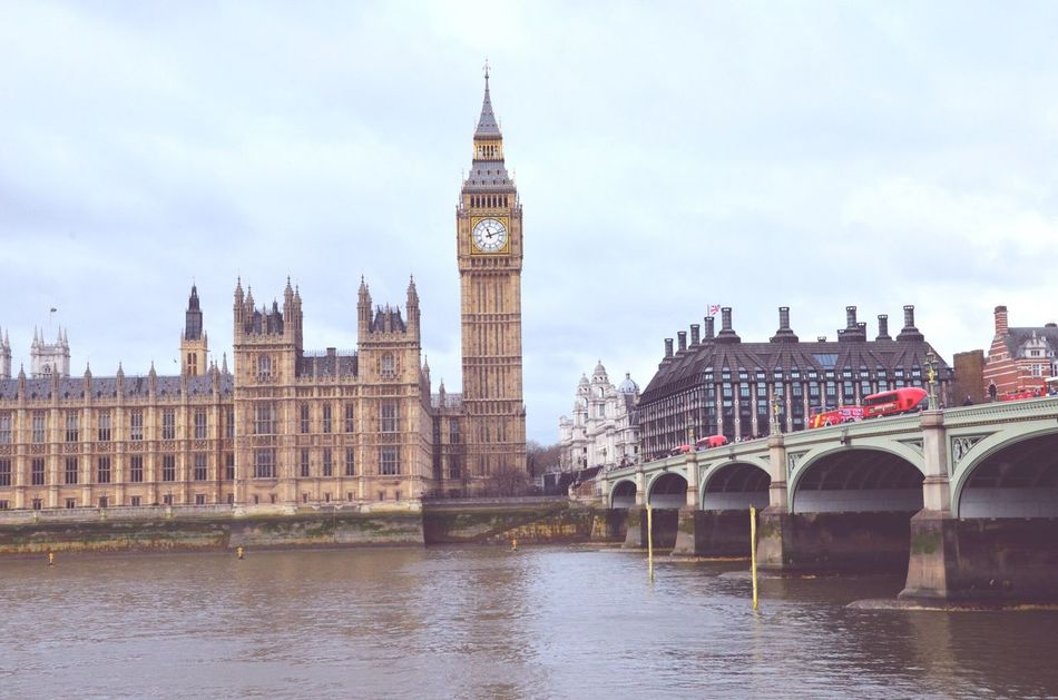 Architecture Clock Tower Travel Destinations Built Structure Sky Building Exterior Bridge - Man Made Structure River Connection Cloud - Sky Water Travel Day Waterfront No People City Bigben Westminster Ukparlament London