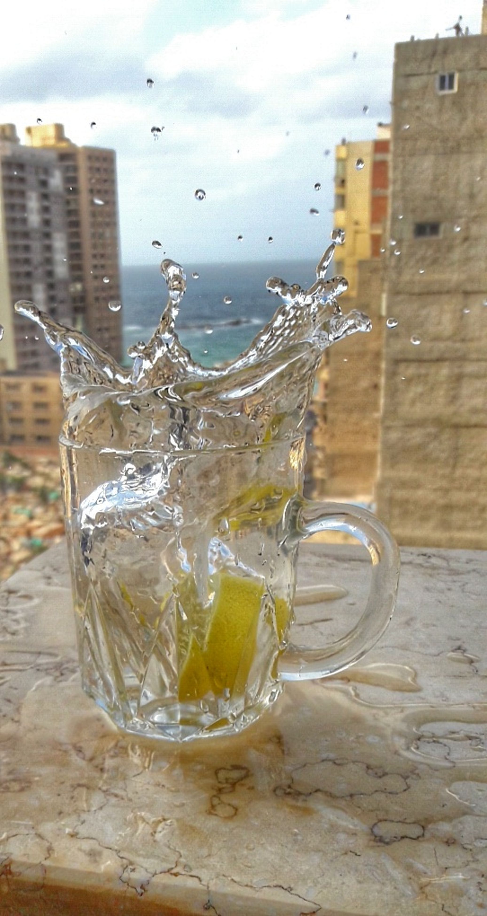 drink, refreshment, splashing, drinking glass, wet, water, cold temperature, freshness, no people, close-up, day