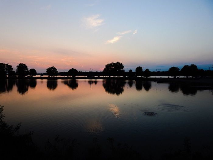 Sunset Reflection Water Tranquil Scene Scenics Tranquility Sky Lake Waterfront Beauty In Nature Calm Idyllic Remote Nature Cloud Blue Standing Water Outdoors Majestic Taking Photos Enjoying Life Check This Out