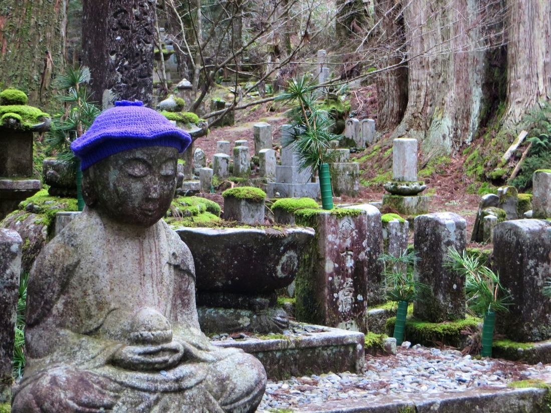 Canon Cedar Trees Graveyard Graveyard Beauty Hat Human Representation Japan Koyasan Lotus Position Mount Koya Peaceful Purple Solotraveler Statue Ultimate Japan Canon SX280