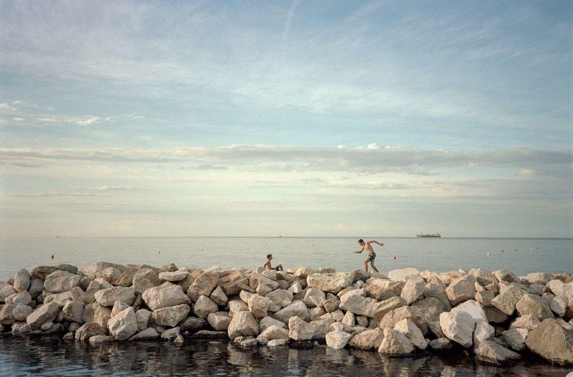 Summer 2016 Sea Horizon Over Water Beach Beauty In Nature Analogue Photography Film Photography Analog Film Non-urban Scene Portra 160 Marine Romagna