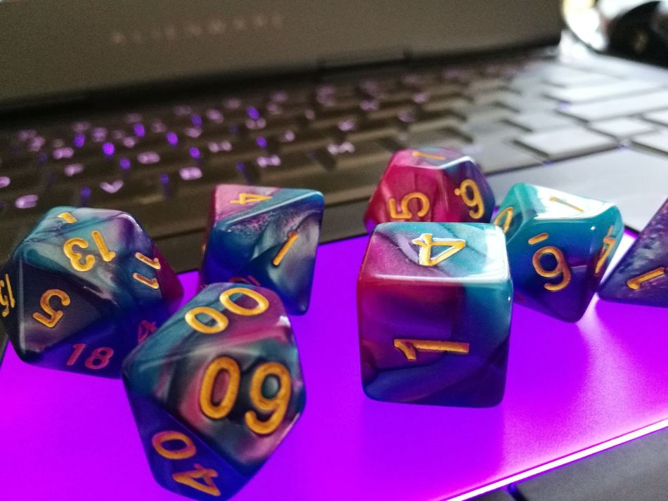 Dice Dungeons And Dragons Purple And Green Multi Colored Chance Close-up No People Leisure Games D20 D12 D10s D8 D6 D4  Indoors  Gambling Luck Gambling Chip Day Board Game Role Play Rpg Shot On Huawei P9 Plus