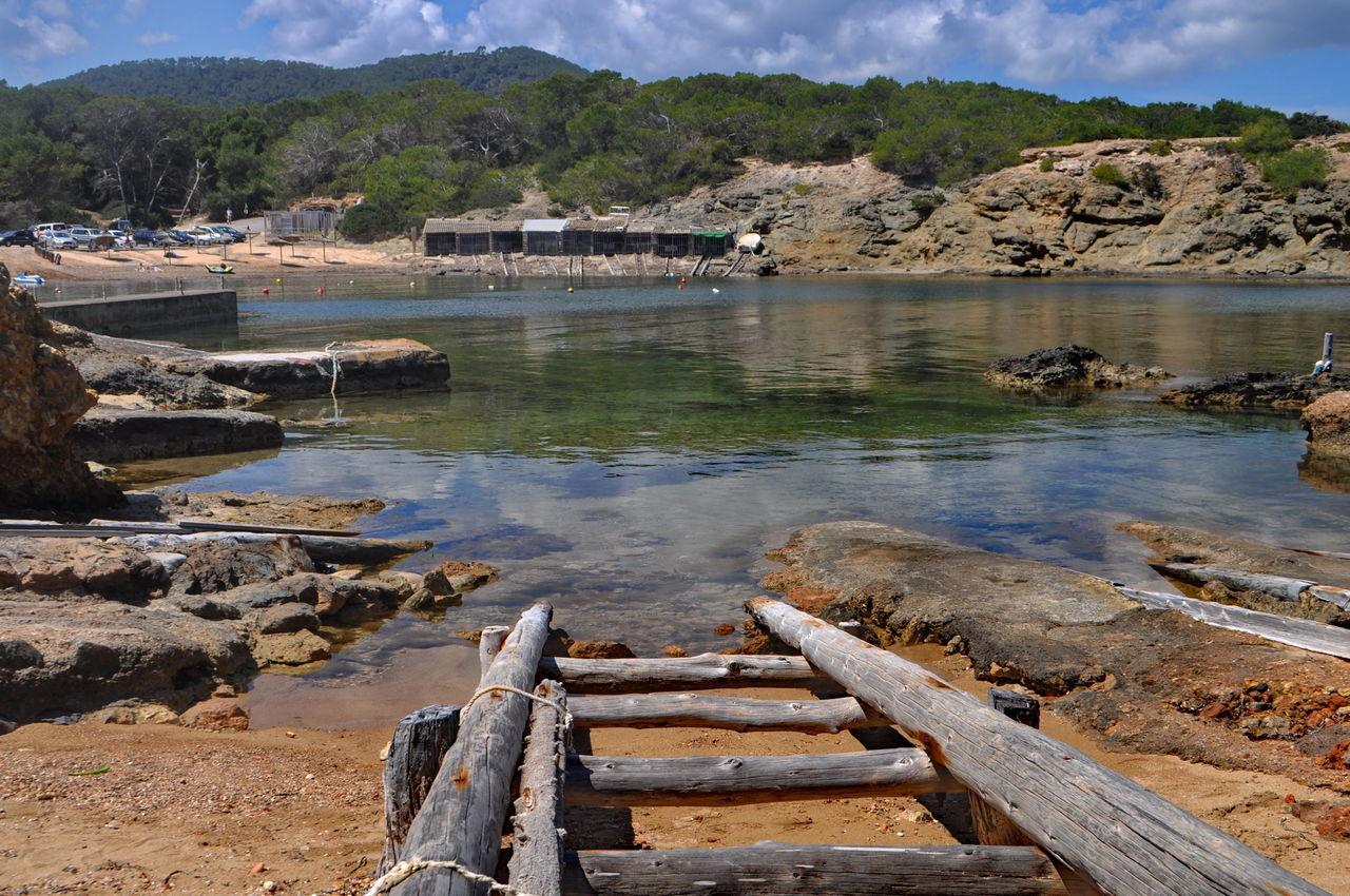 Balearic Islands Bay Boat House Es Pou Des Lleó, Ibiza Island Landscape Mediterranean Sea Nature Outdoors Pitiusa Scenics Tourism Travel Destinations Water