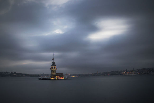 Long Exposure Clouds And Sky City Lights Eyemphotography Seaside Sea And Sky Relaxing Eye4photography  Maiden Tower
