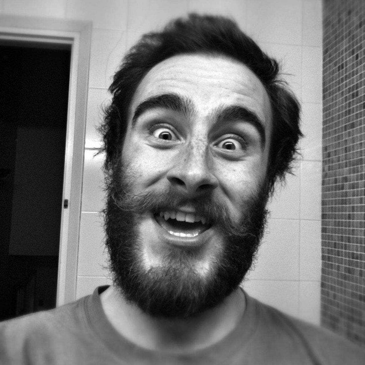 Beautiful stock photos of schnurrbart, Beard, Caucasian Ethnicity, Close-Up, Happiness