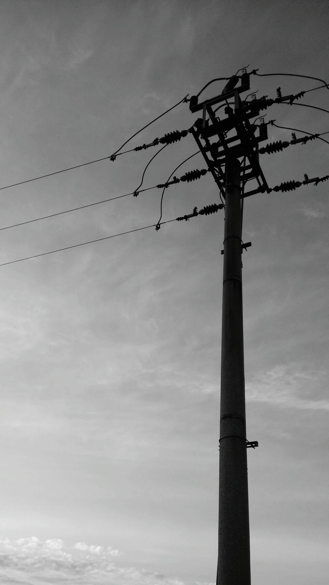Pylon, Column, Electricity , Wire Sadness Blackandwhite Wunscher