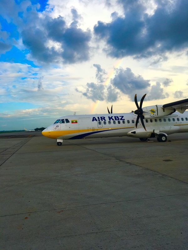 Have a nice flight.... Aircraft ATR72 ATR72 600 Aircraftmechanic The Week On EyeEem Yangoninternationalairport Bestphoto Eyem Team Smart Phone People And Places AirKBZ