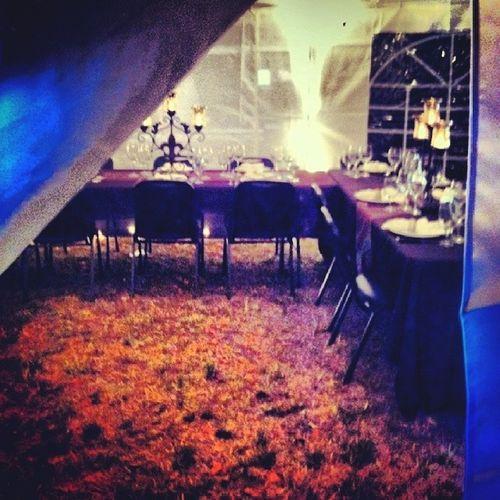A peek inside the tent. Theroamingtablesociety